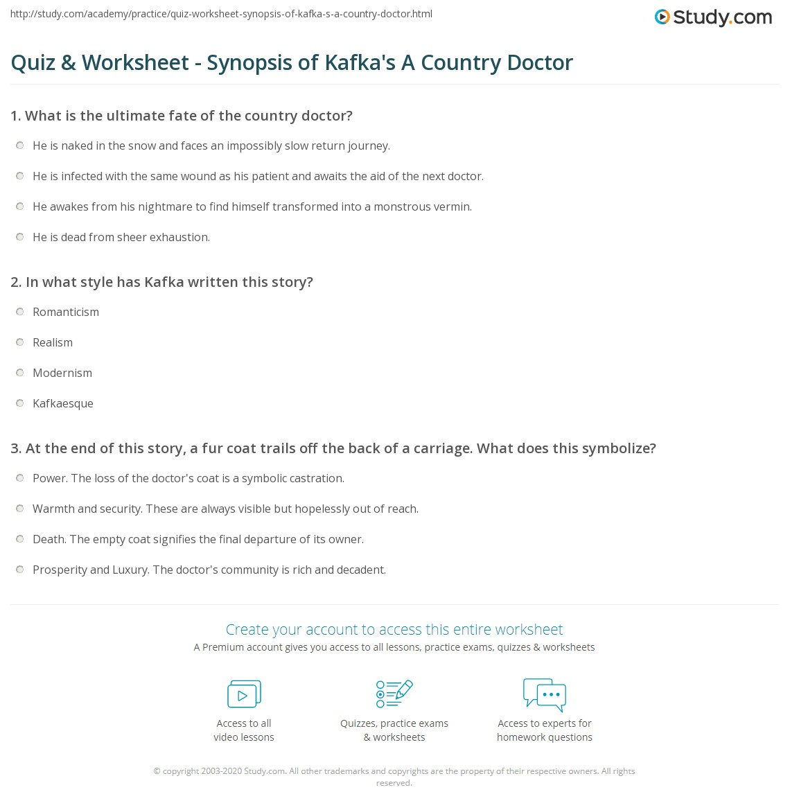 a country doctor analysis