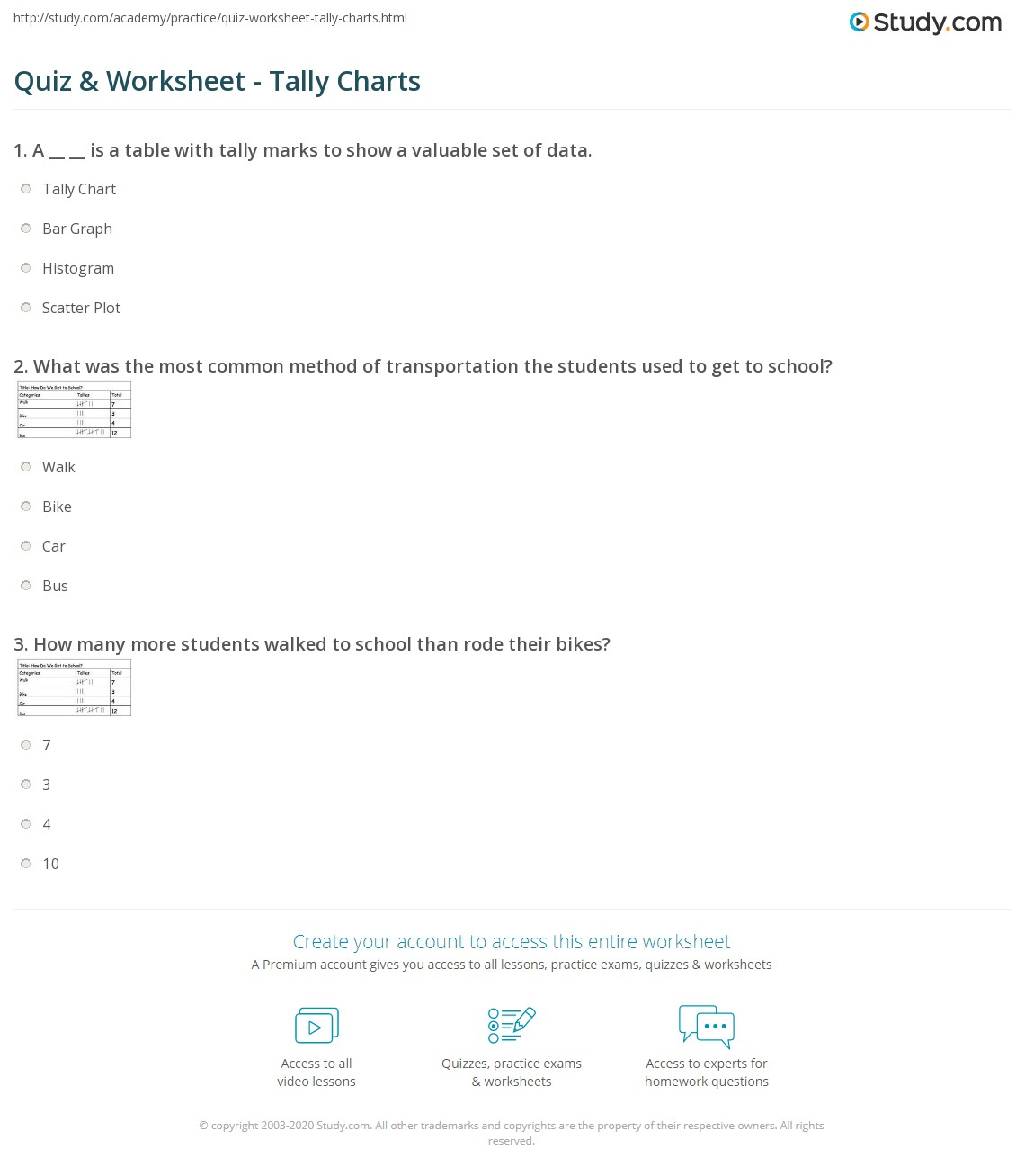 worksheet Tally Chart Worksheets quiz worksheet tally charts study com print chart definition examples worksheet