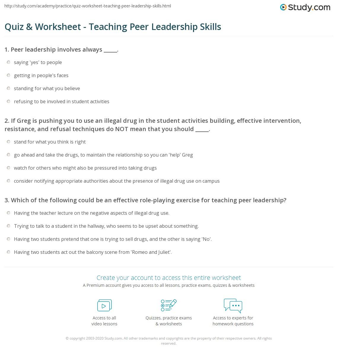 Strategies For Teaching Students Leadership Skills