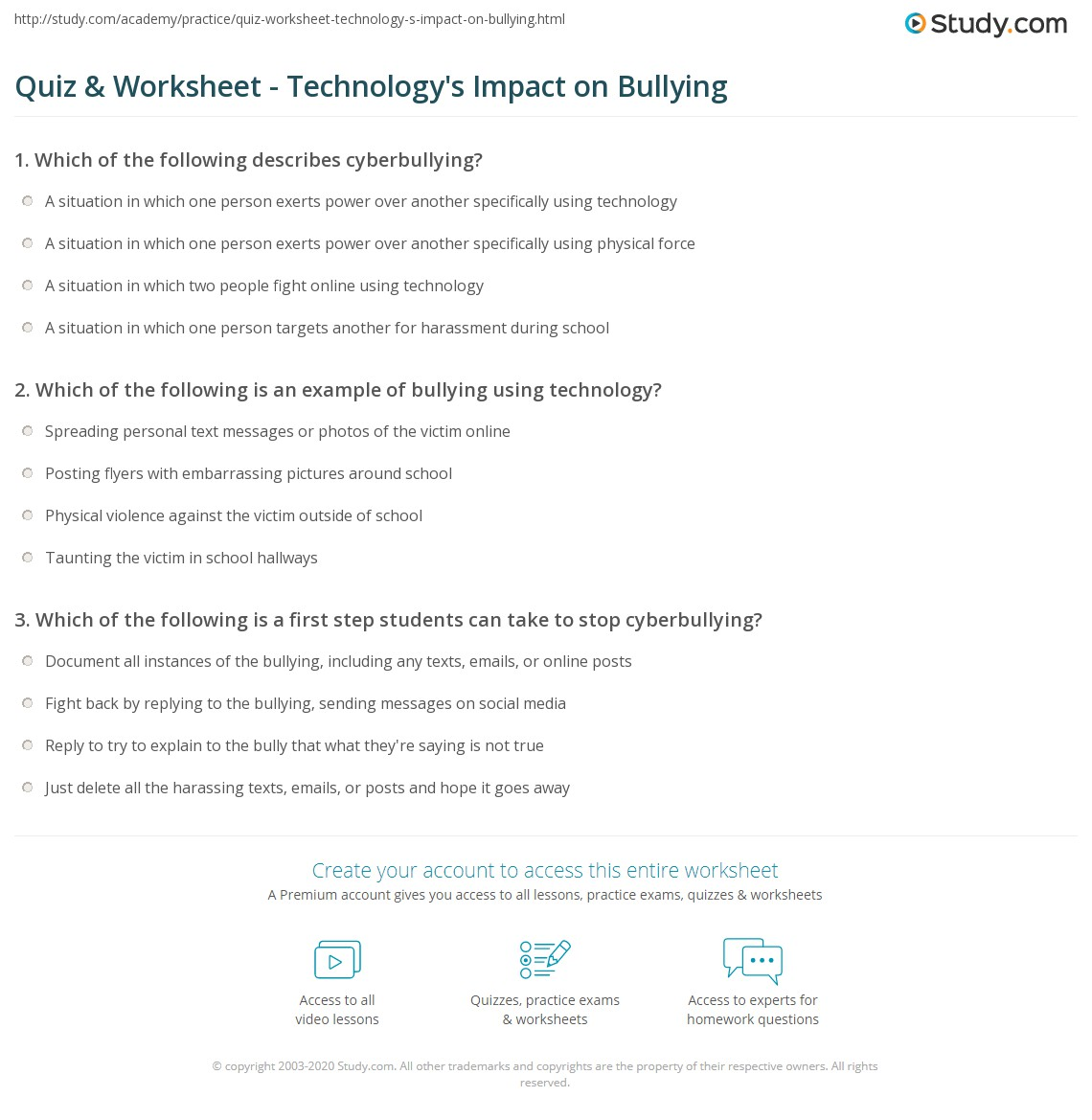 impact of bullying in schools