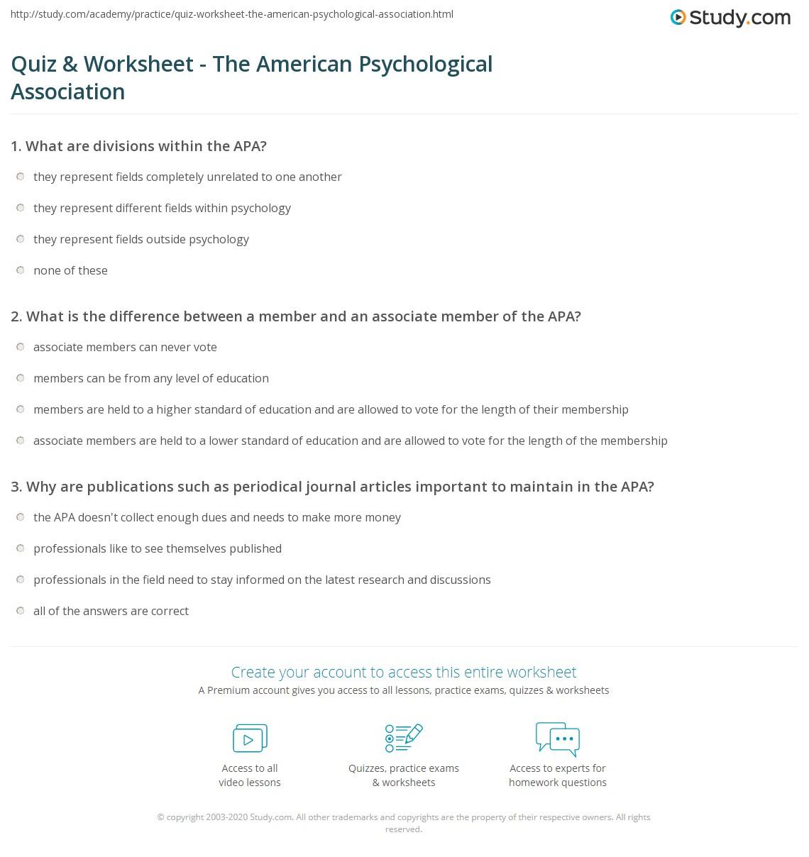 american phsycological association