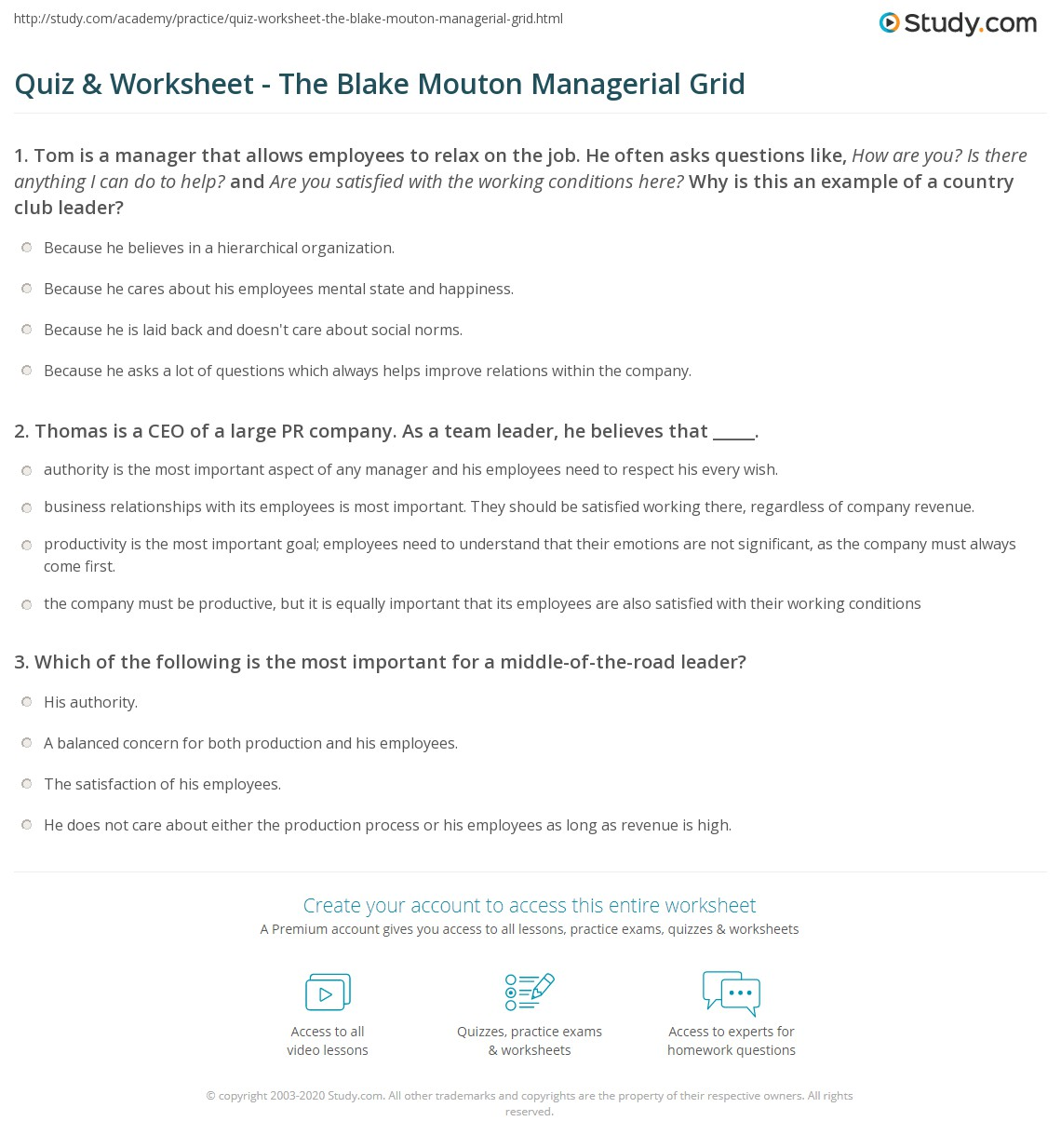 blake and mouton managerial grid