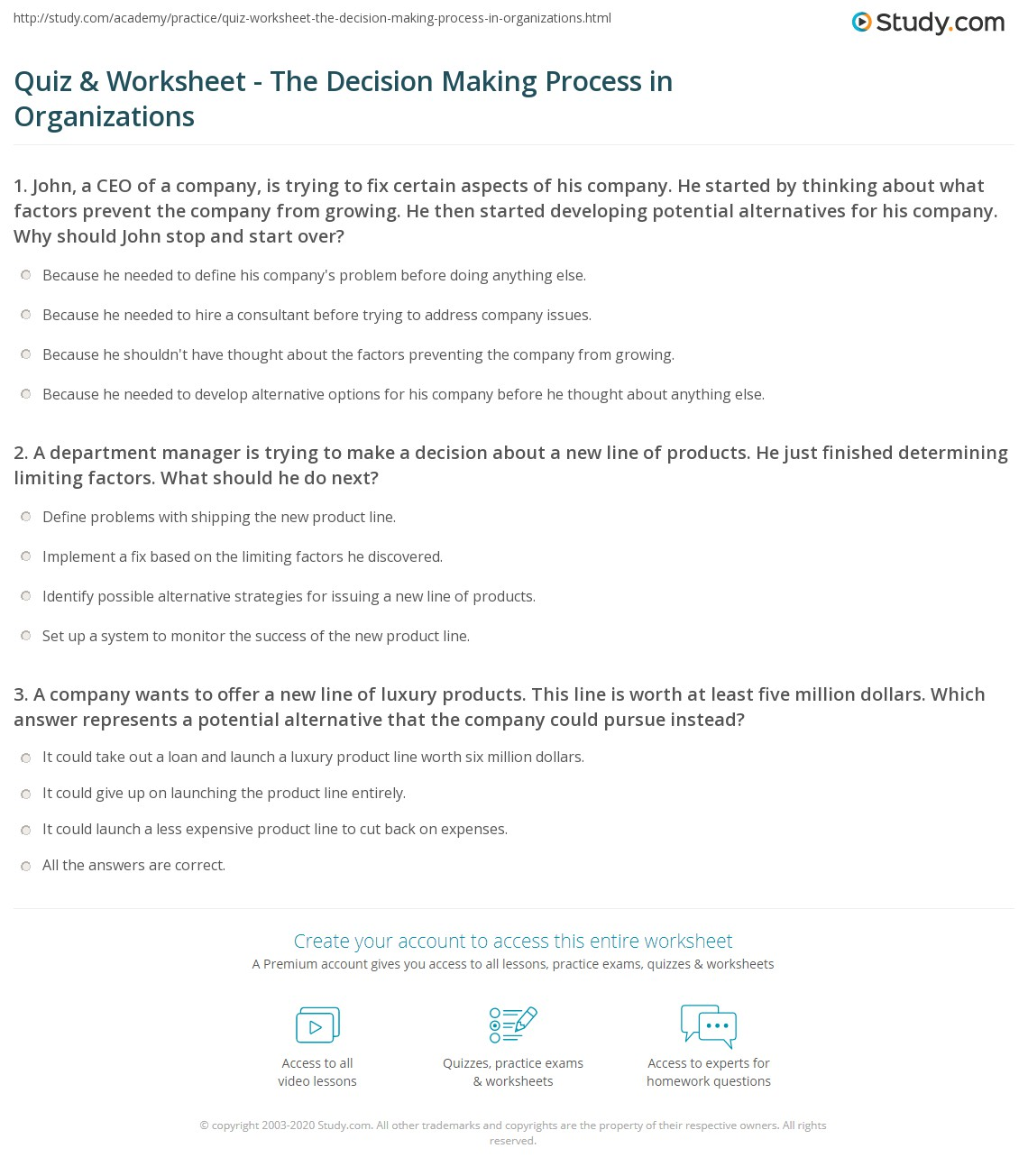 process decision making organization manager Decision-making process in business and management the ultimate guide step-by-step decision-making strategies to improve problem-solving.