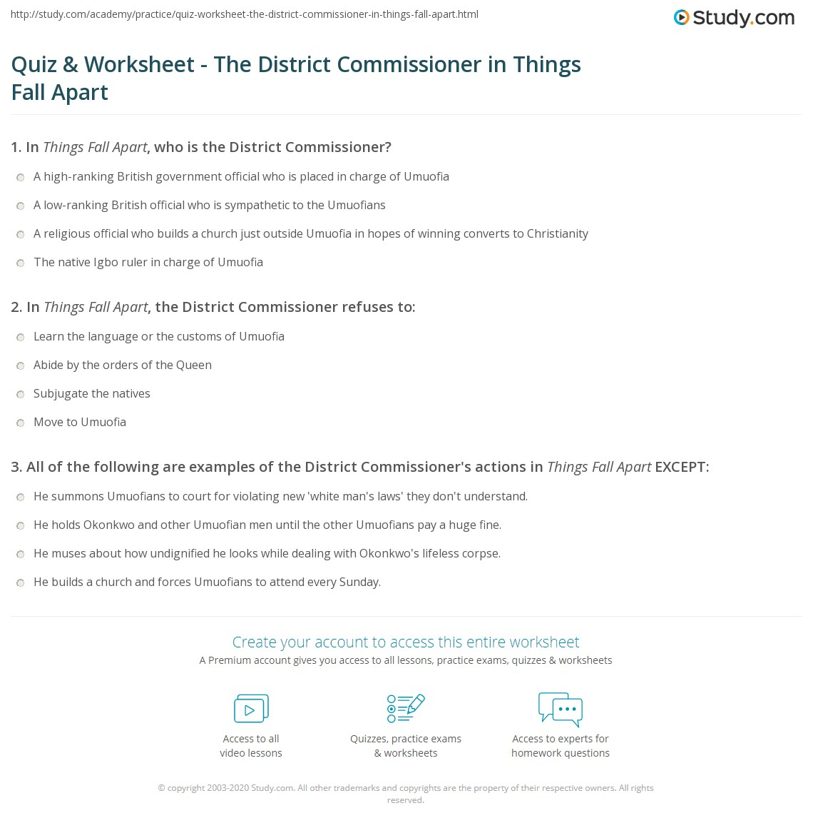 The District Commissioner In Things