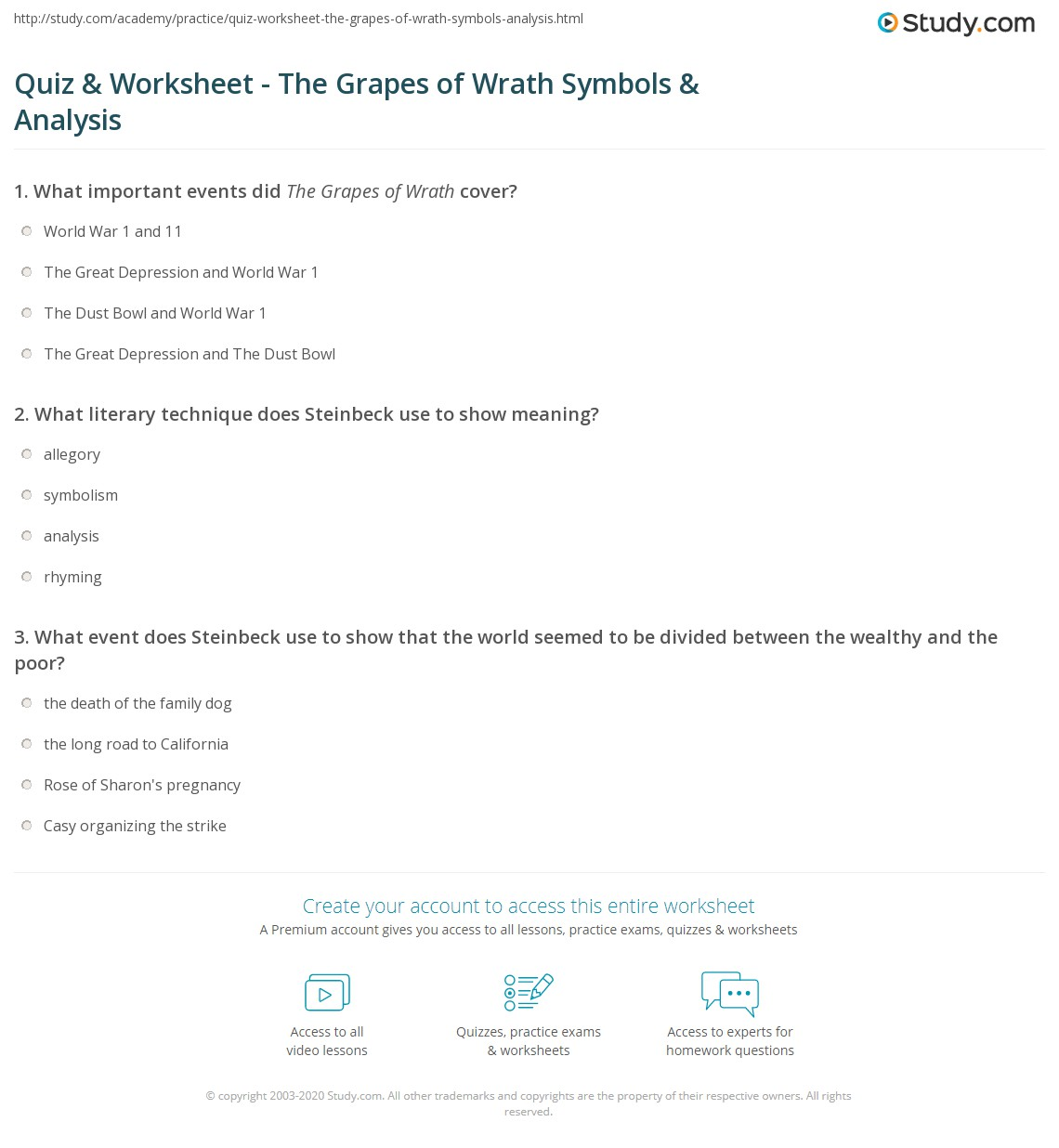 Quiz worksheet the grapes of wrath symbols analysis study print the grapes of wrath author symbols analysis worksheet biocorpaavc Image collections