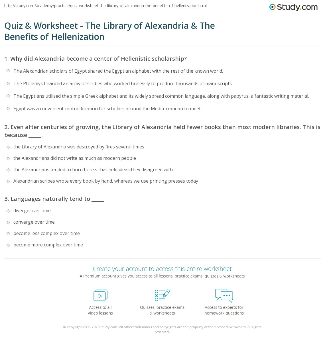 an analysis of the importance of the alexandrian library It was also in the centre of trade and civilisation, hosting the famous library name for it what was the importance of alexandria egypt.