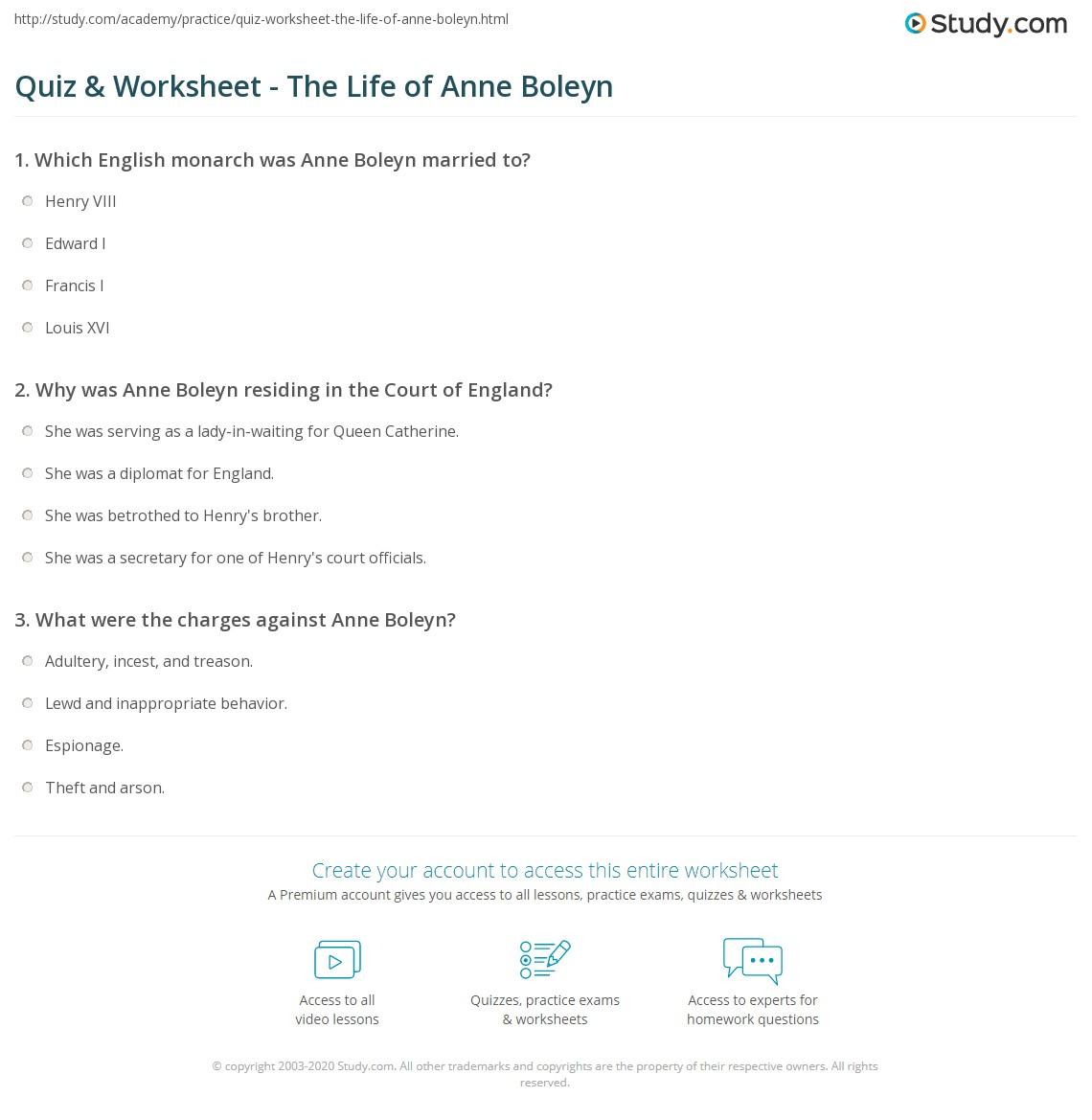 Anne boleyn homework help