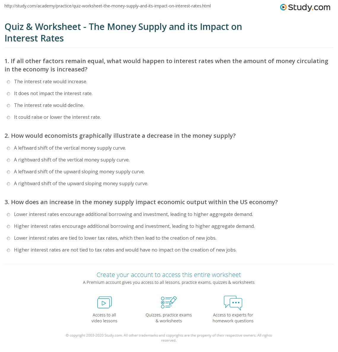 money supply 2 essay Money supply growth in liquidity trap a feature of a liquidity trap is that increasing the money supply has little effect on boosting demand one reason is that.