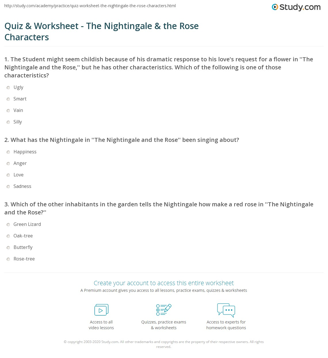 the nightingale and the rose by oscar wilde analysis