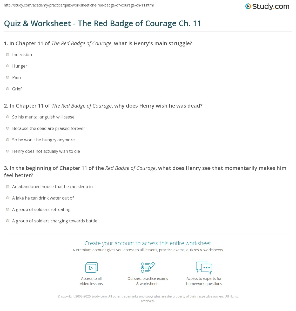 quiz worksheet the red badge of courage ch com print the red badge of courage chapter 11 summary worksheet