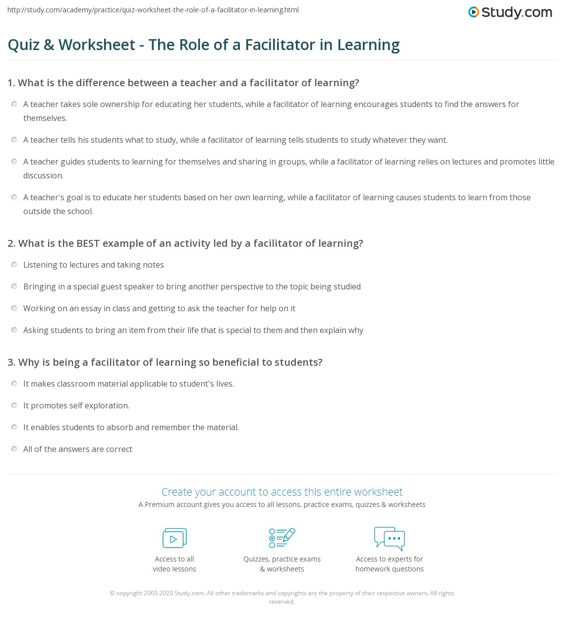 wonderful in the u s worksheet kindergarten worksheets to print  quiz worksheet the role of a facilitator in learning study com