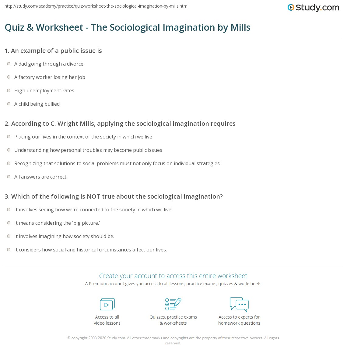 sociological imagination approach of child abuse Start studying understanding social problems practice test chapters 1  availability of child pornography on  use of the sociological imagination.