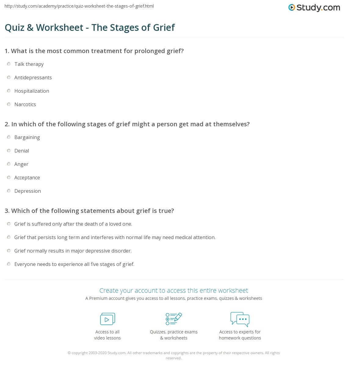 worksheet Grief Worksheets For Adults quiz worksheet the stages of grief study com print what is steps explanation worksheet