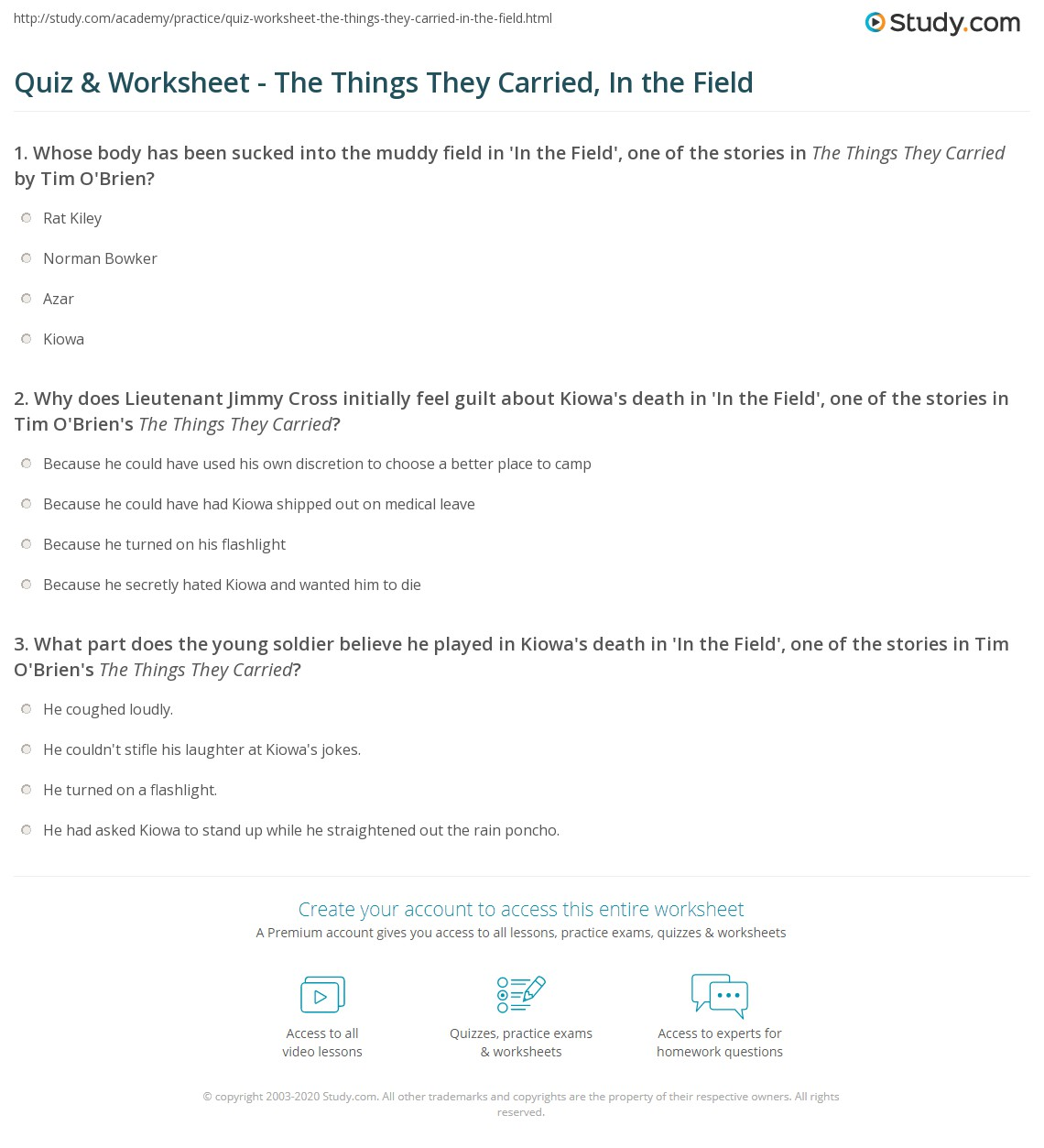tim obriens the things they carried an examination of what they carried and why essay Guide emotional intelligence 20 a study guide for tim obriens the things they carried the rocket french quick-start guide to french language learning.