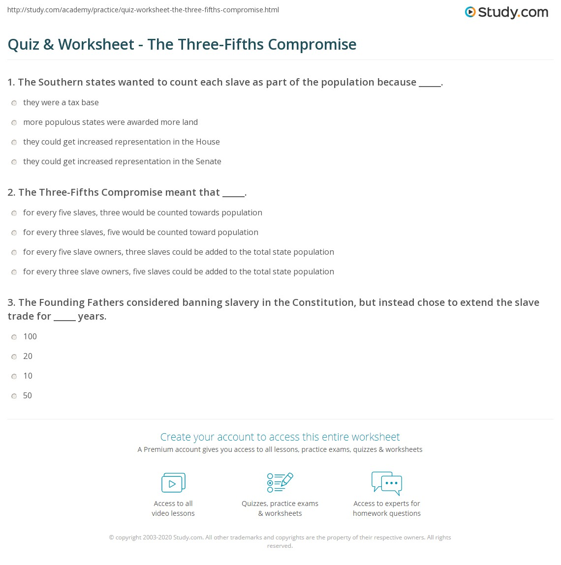 the three fifths compromise essay First, let's define the three fifths compromise, then place it in context of the time period, and then we will discuss the issue/problem definition: the three fifths compromise was adopted on .