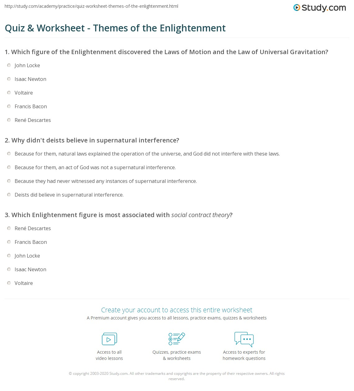 themes of the enlightenment