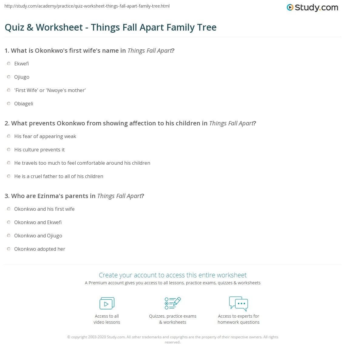 essay things fall apart okonkwo family tree