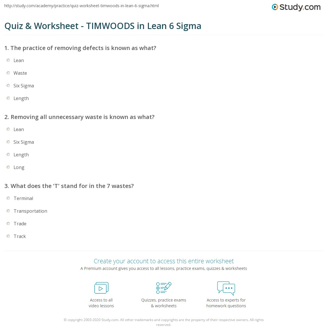 Six sigma black belt certificate template choice image templates quiz worksheet timwoods in lean 6 sigma study print lean six sigma seven kinds of waste xflitez Images