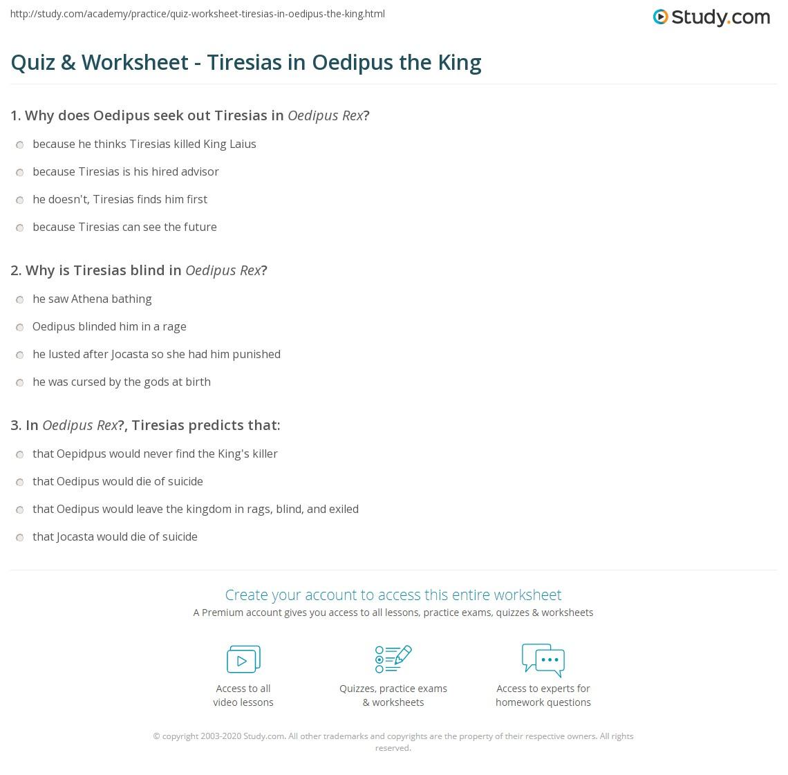 quiz worksheet tiresias in oedipus the king study com rh study com Oedipus and Teiresias Oedipus Rex