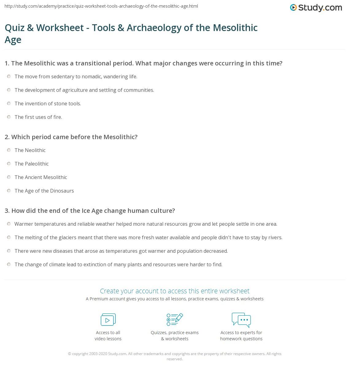 Stone Age Worksheets - Checks Worksheet