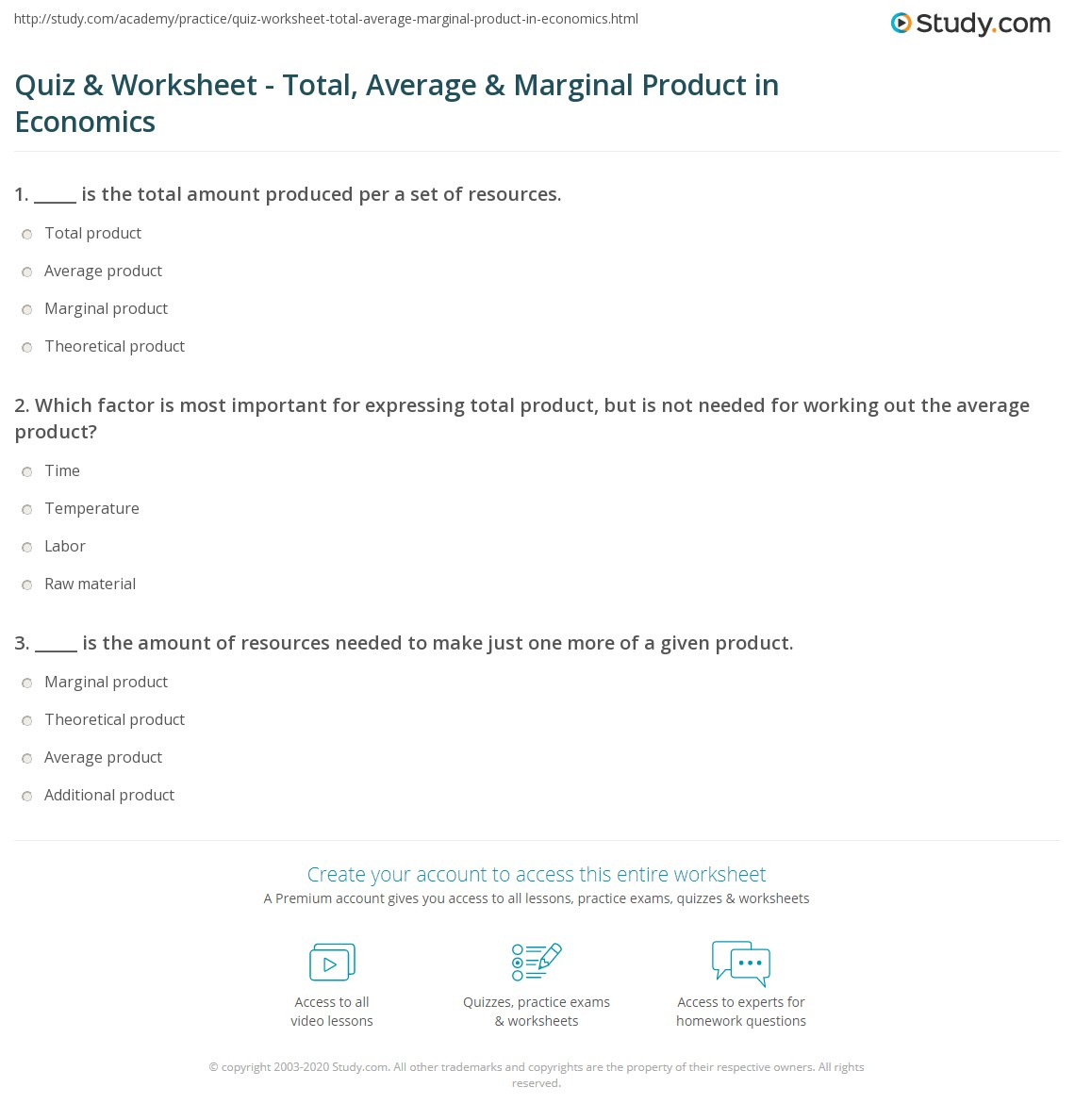 what is the average product