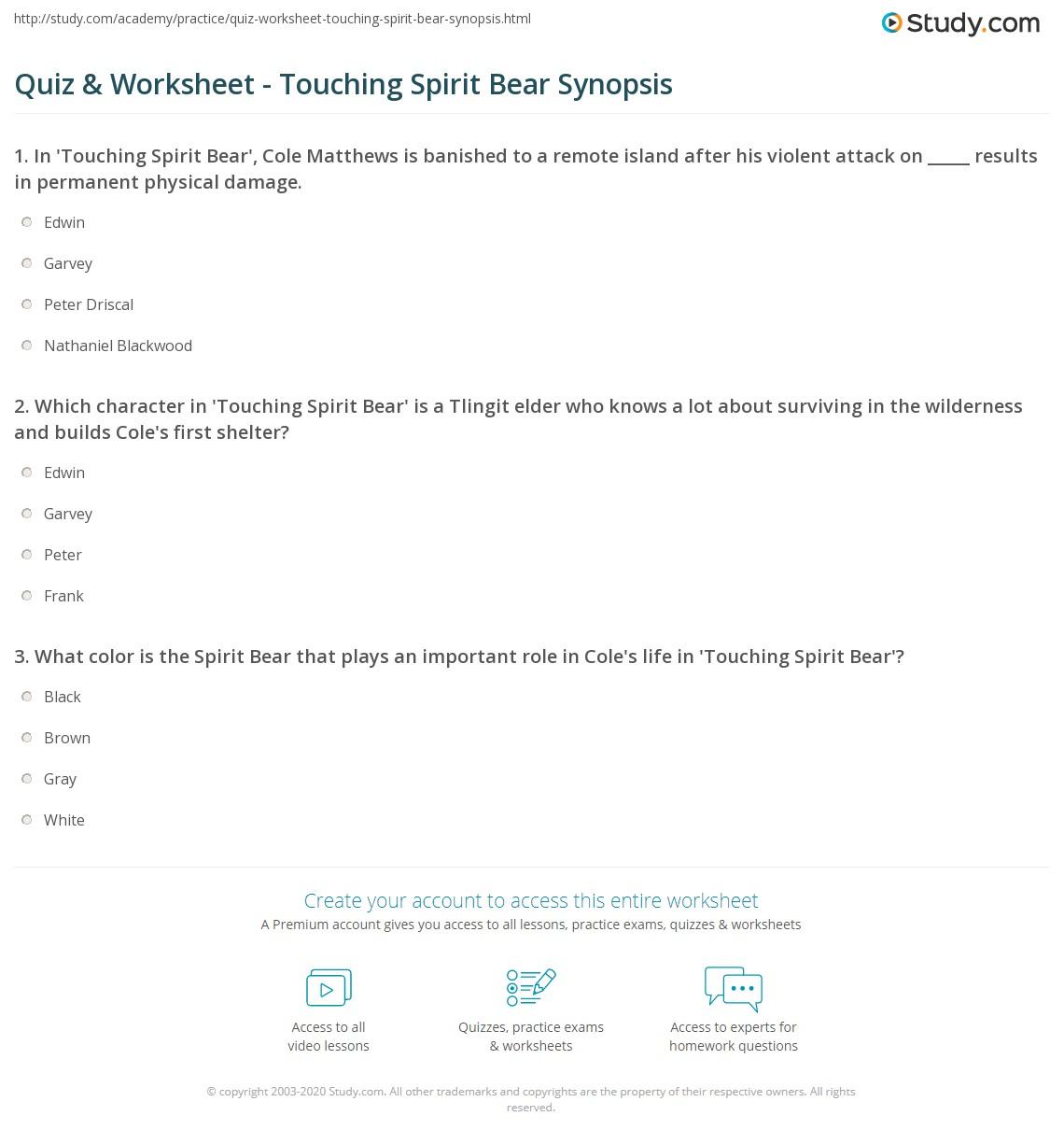 TOUCHING SPIRIT BEAR SUMMARY EBOOK DOWNLOAD