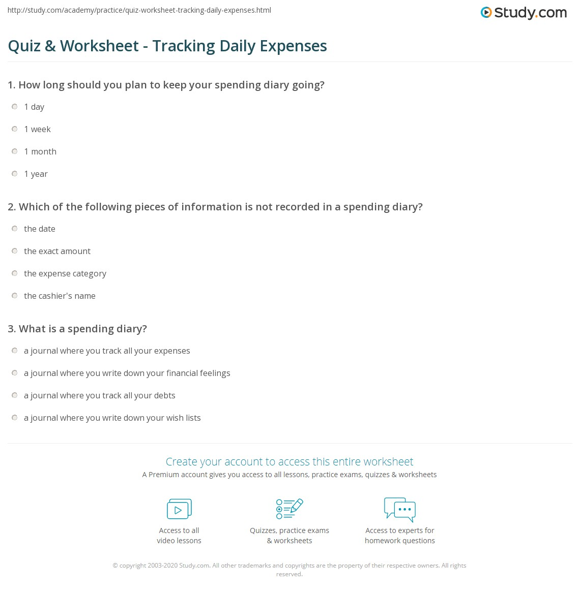 track your spending worksheet