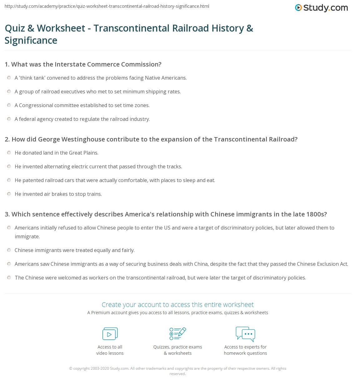 Free Worksheet 9th Grade Social Studies Worksheets transcontinental railroad worksheets rringband quiz worksheet history