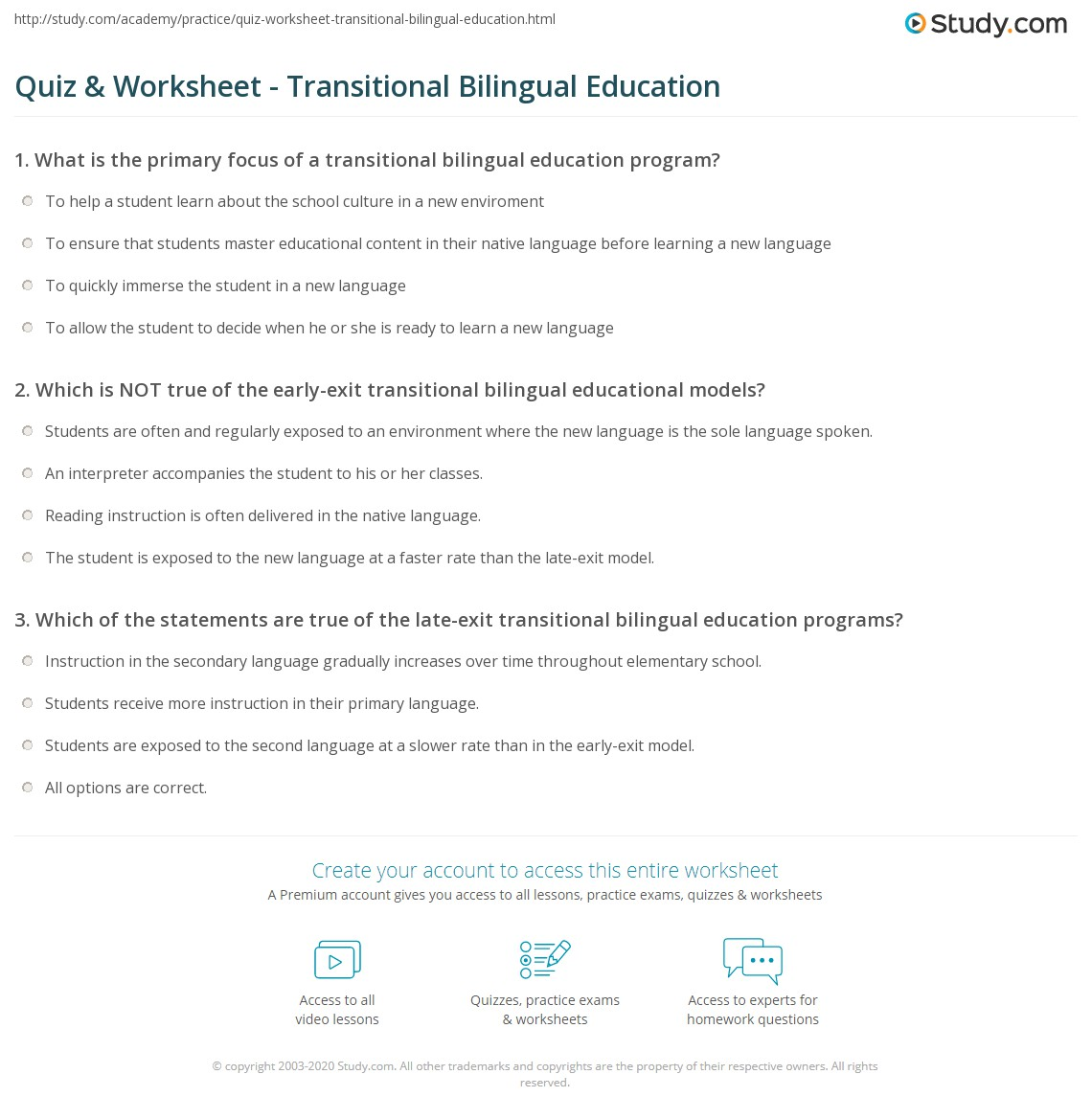 Return to Bilingual Education