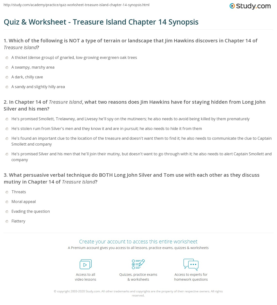 quiz worksheet treasure island chapter 14 synopsis. Black Bedroom Furniture Sets. Home Design Ideas