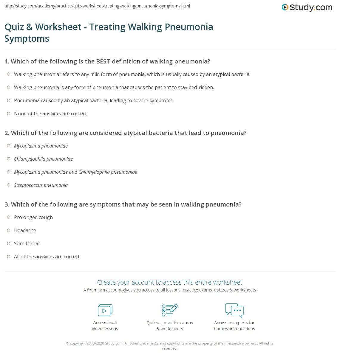quiz & worksheet - treating walking pneumonia symptoms | study, Cephalic Vein