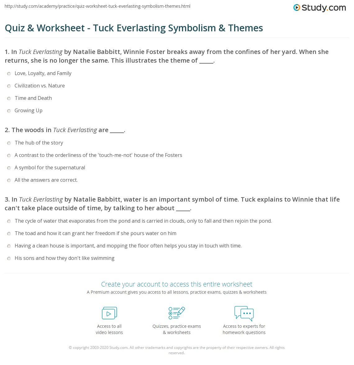 Quiz worksheet tuck everlasting symbolism themes study print tuck everlasting symbolism themes worksheet robcynllc Choice Image