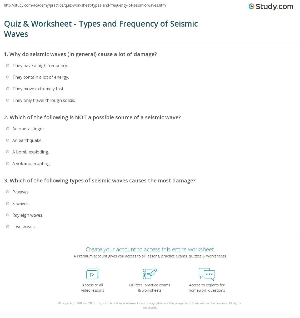 Seismic Waves Worksheet Sharebrowse – Psychsim 5 Worksheets