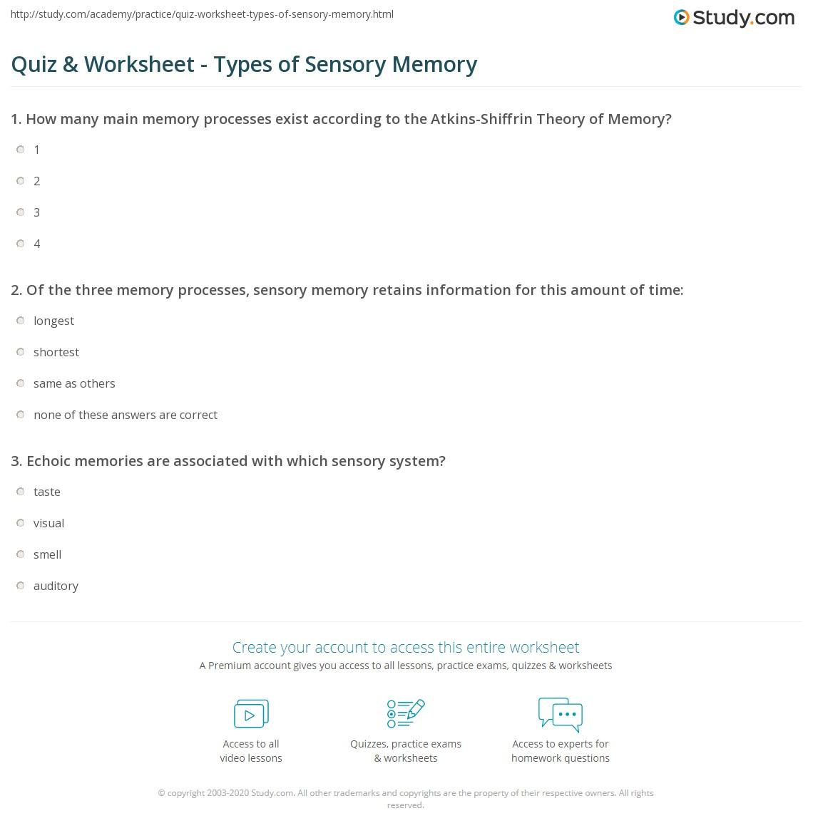 echoic sensory memory