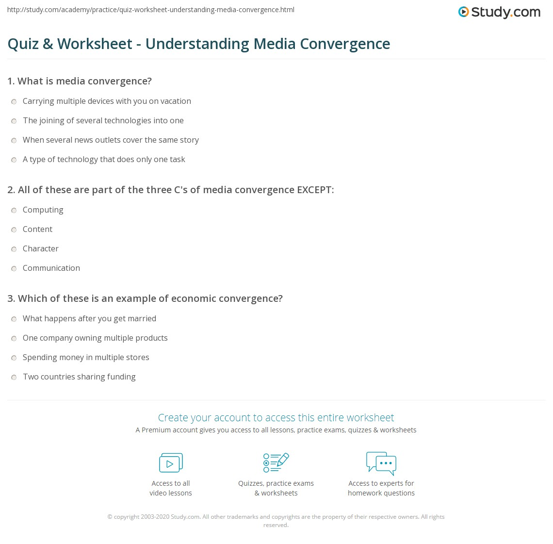 What is convergence? 14