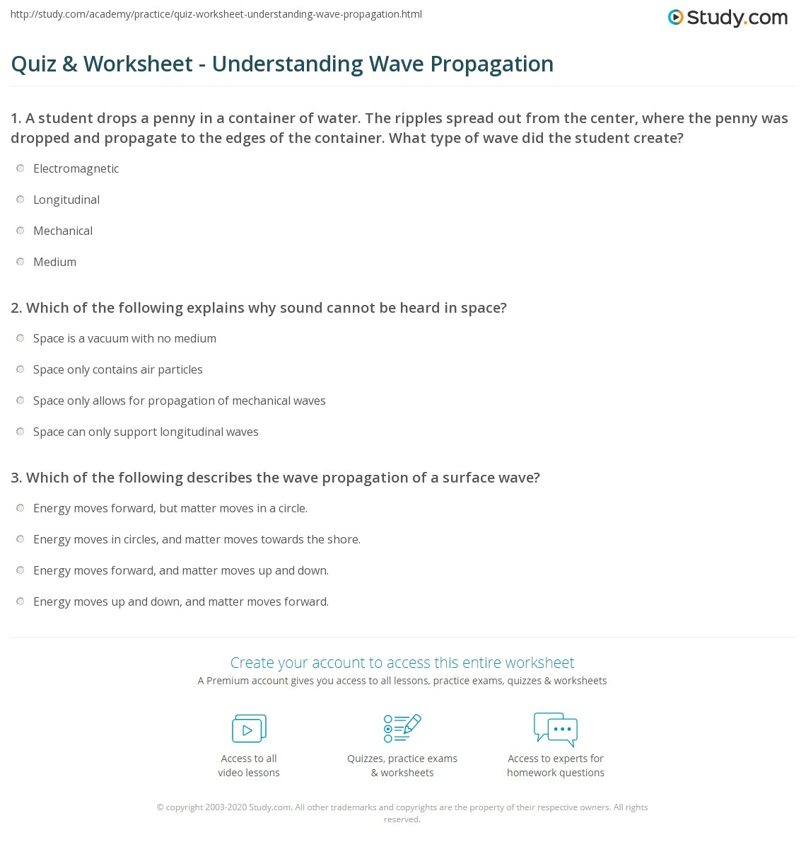 Print Wave Propagation Mechanical Waves Vs Electromagnetic Worksheet
