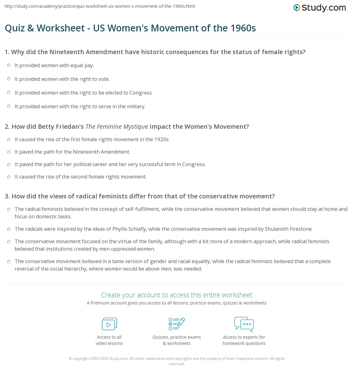 impact of feminist movement