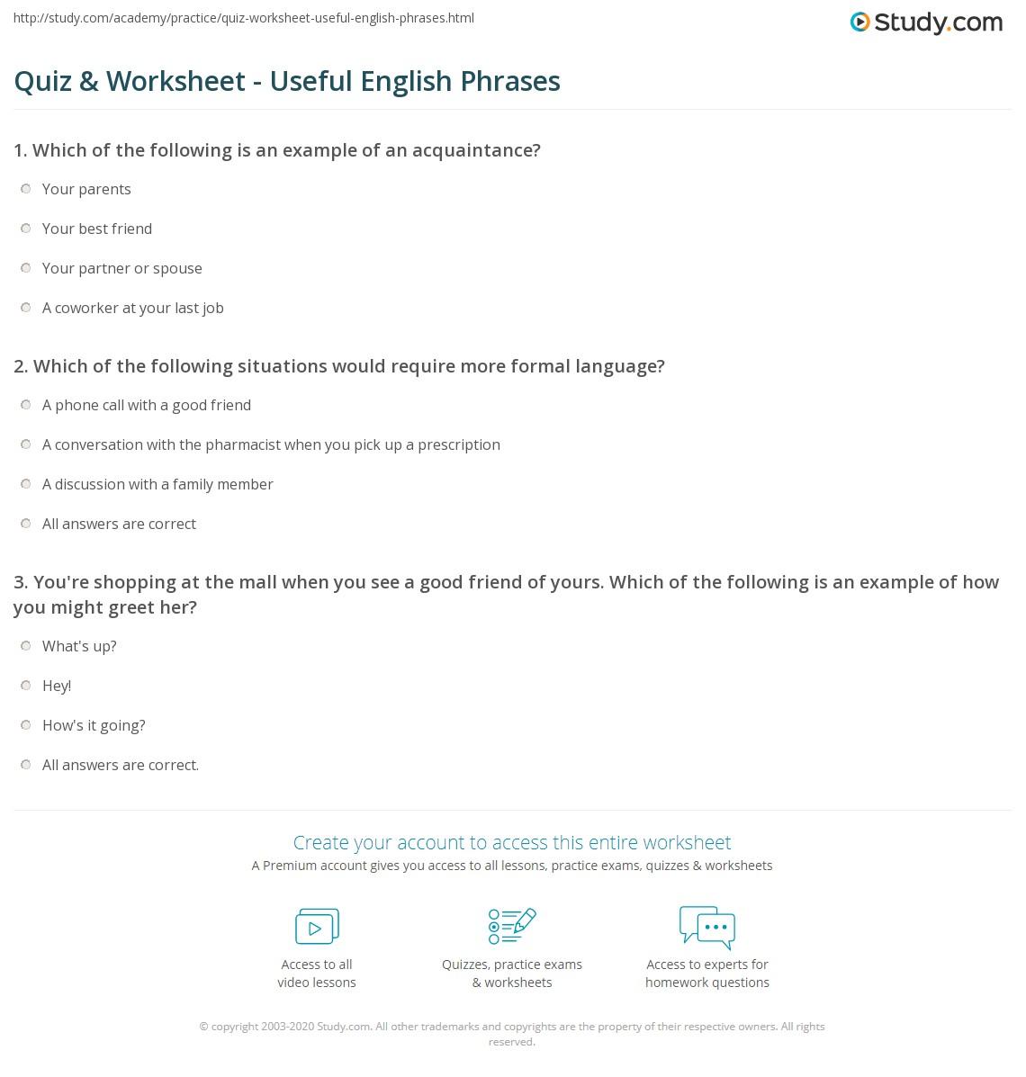 study phrases in english language pdf