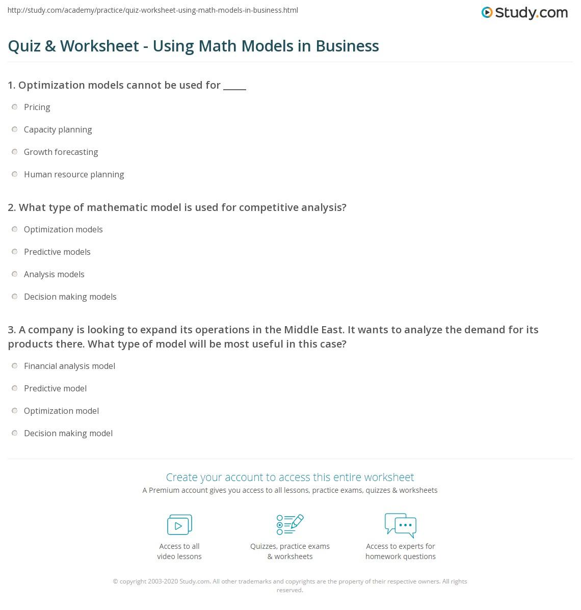 Hows Business Math Worksheet Ivuyteq [ 1197 x 1140 Pixel ]