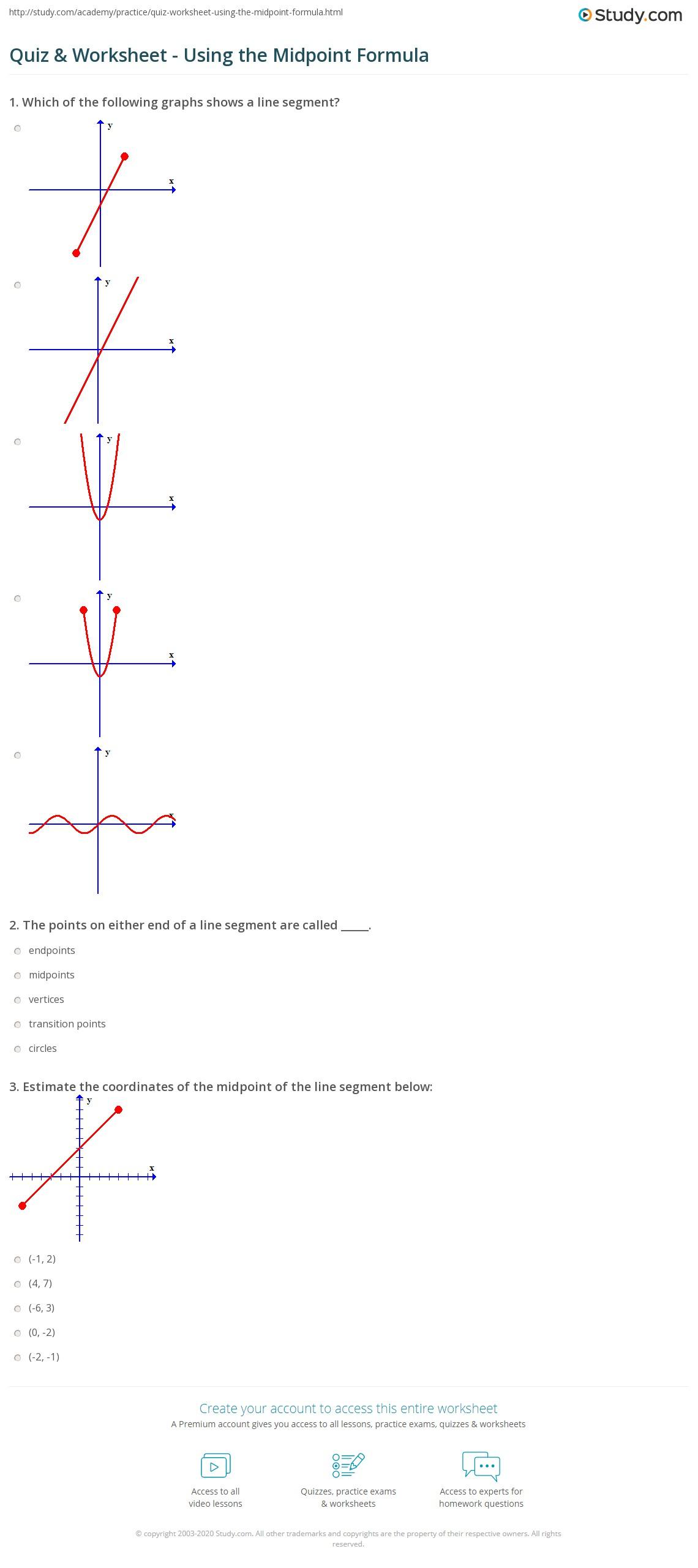 : Hypothesis Testing Worksheet, Using Midpoint Formula Worksheet ...