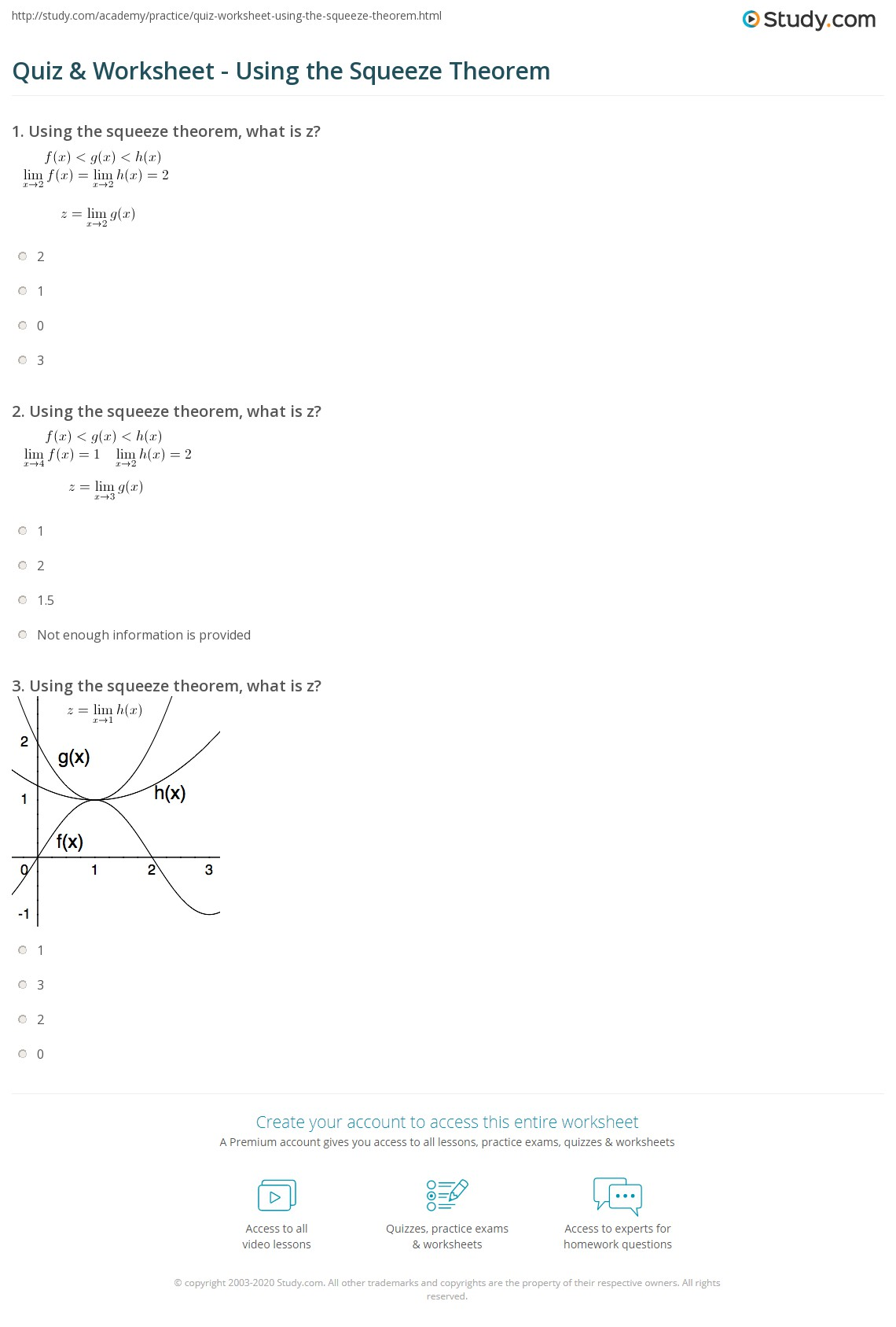 Uncategorized Z-score Worksheet quiz worksheet using the squeeze theorem study com print definition and examples worksheet