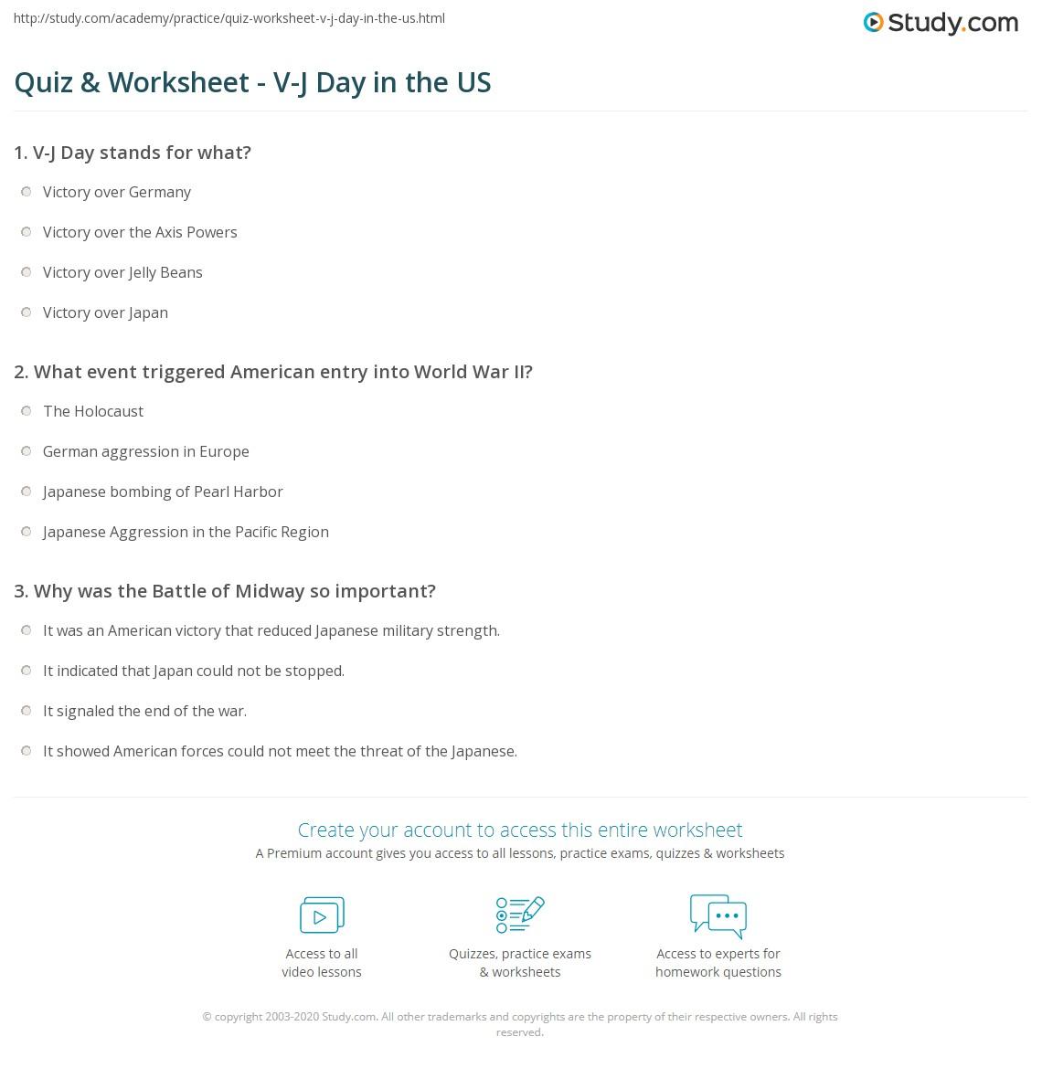 Worksheets Pearl Harbor Worksheet quiz worksheet v j day in the us study com print 1945 definition facts kiss times square worksheet