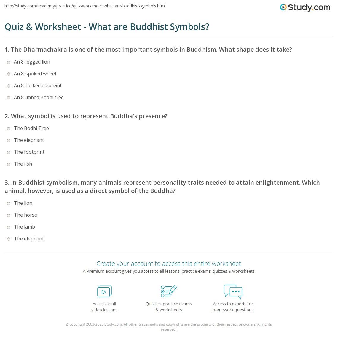 Quiz worksheet what are buddhist symbols study print buddhist symbols meanings worksheet buycottarizona Gallery