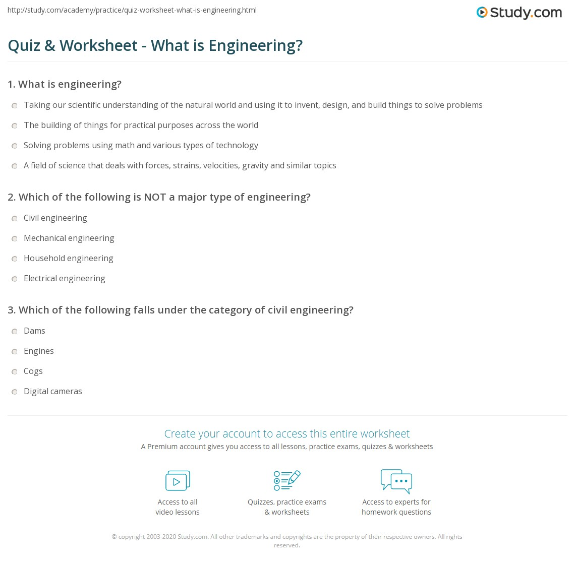 Quiz Worksheet What is Engineering – Adages and Proverbs Worksheets