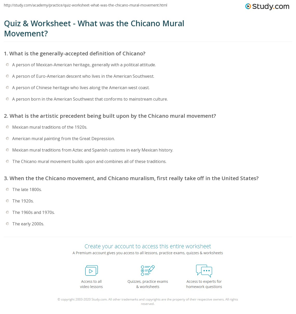 quiz worksheet what was the chicano mural movement. Black Bedroom Furniture Sets. Home Design Ideas