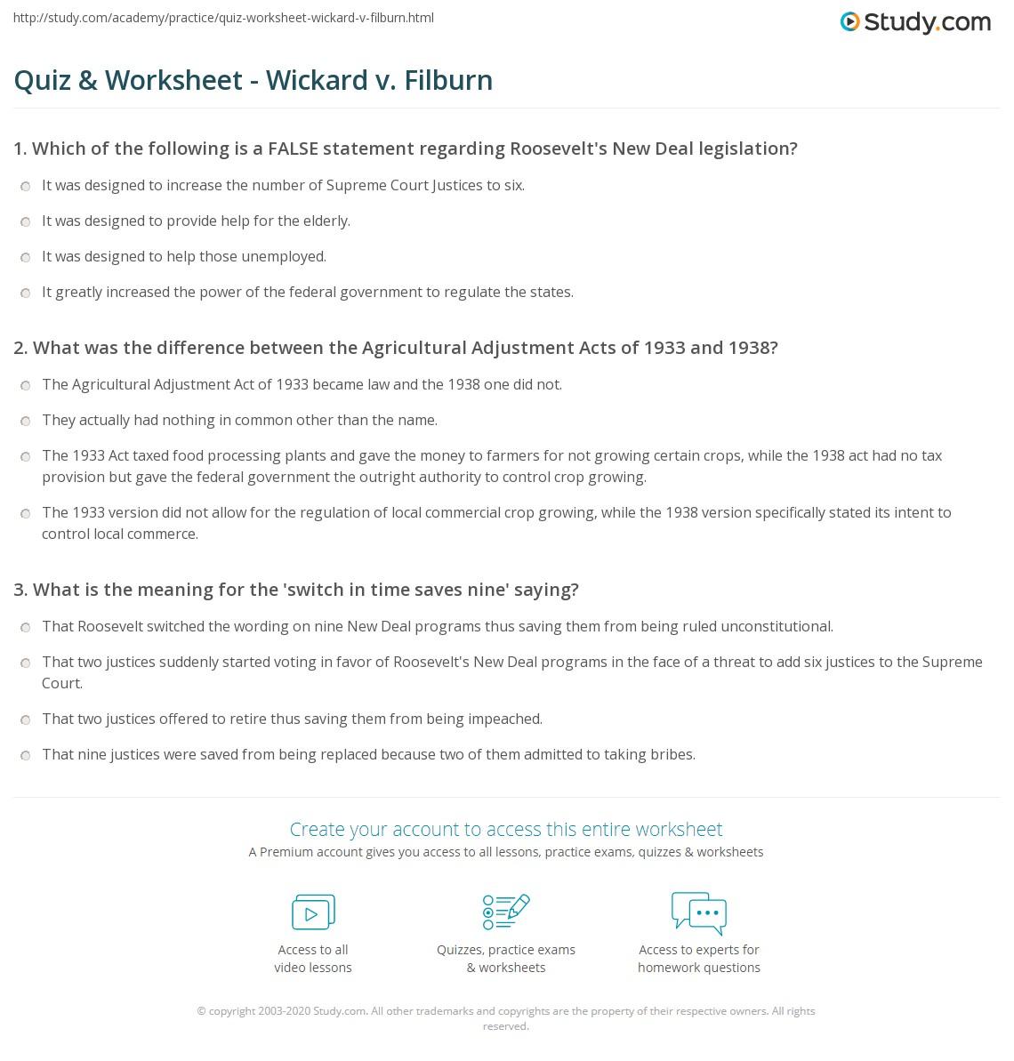 Wickard v filburn essay