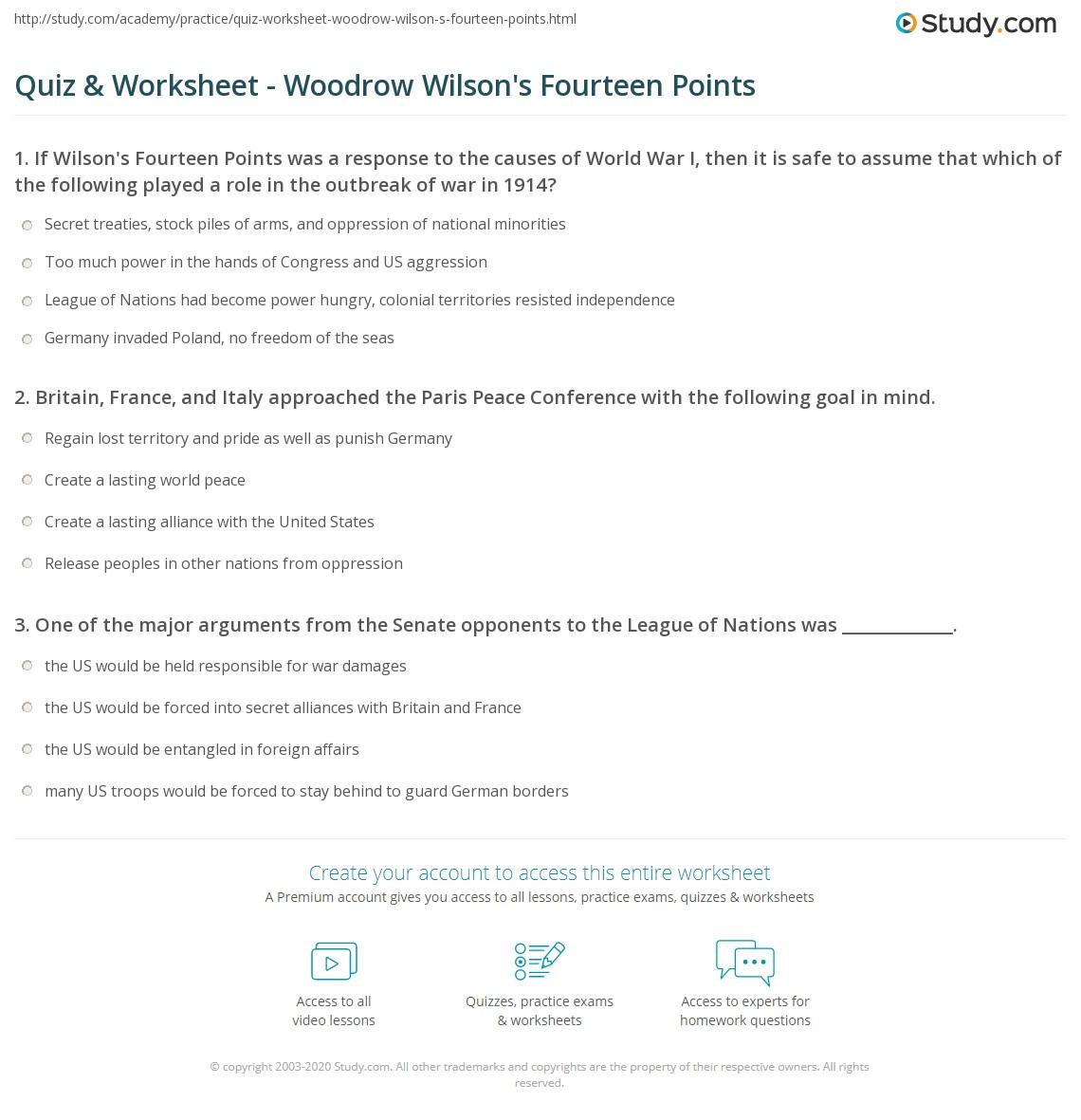 wilson s fourteen points simplified. Black Bedroom Furniture Sets. Home Design Ideas