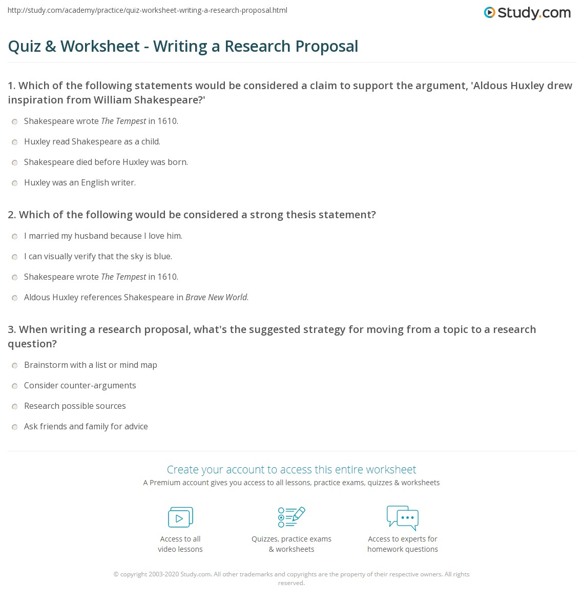 print how to write a research proposal worksheet