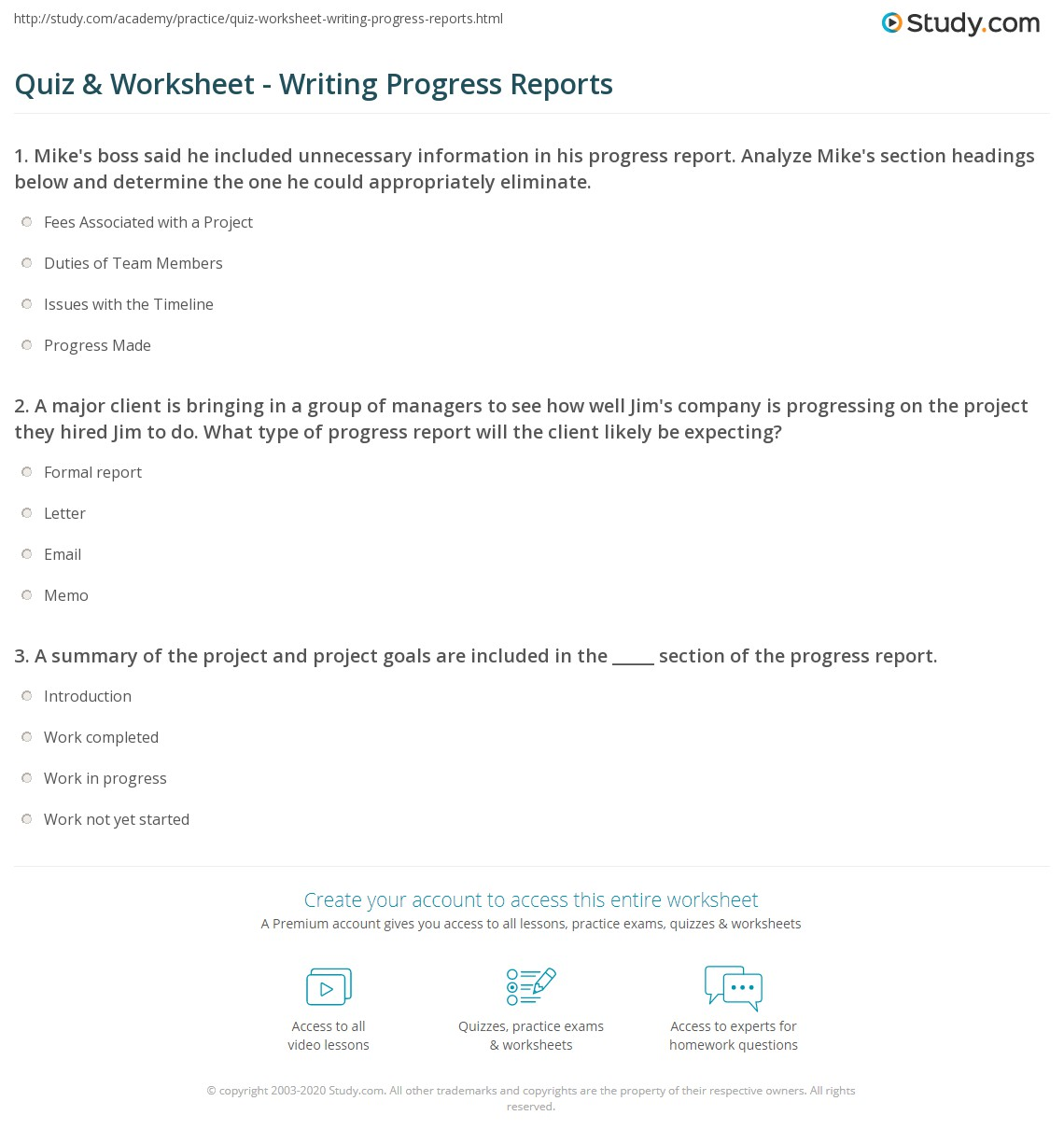 progress report writing Writing a weekly status report involves following this checklist to give your  to  help the sponsor and stakeholders report on project progress.