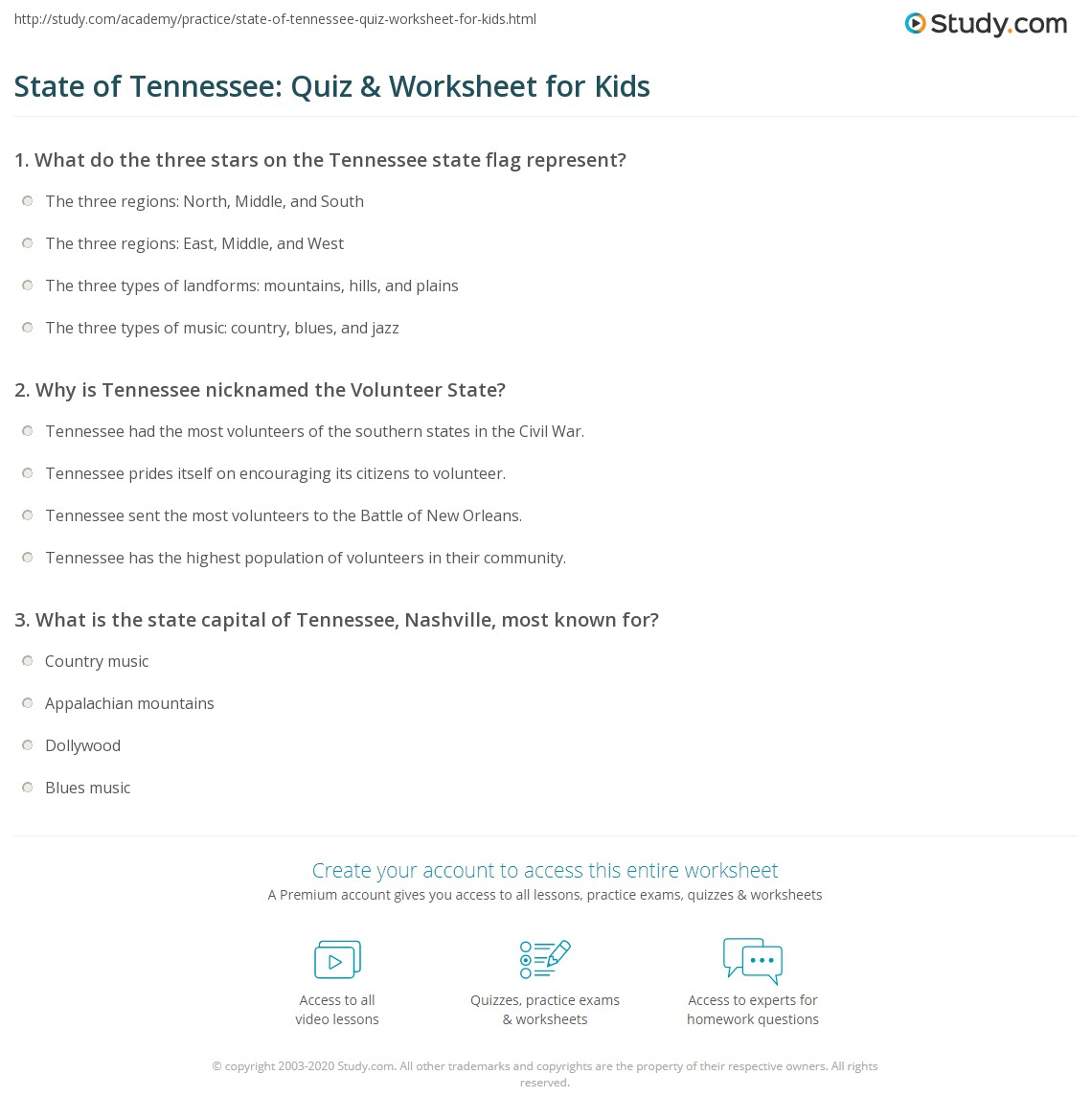 Uncategorized Child Support Worksheet Tn state of tennessee quiz worksheet for kids study com print facts lesson worksheet